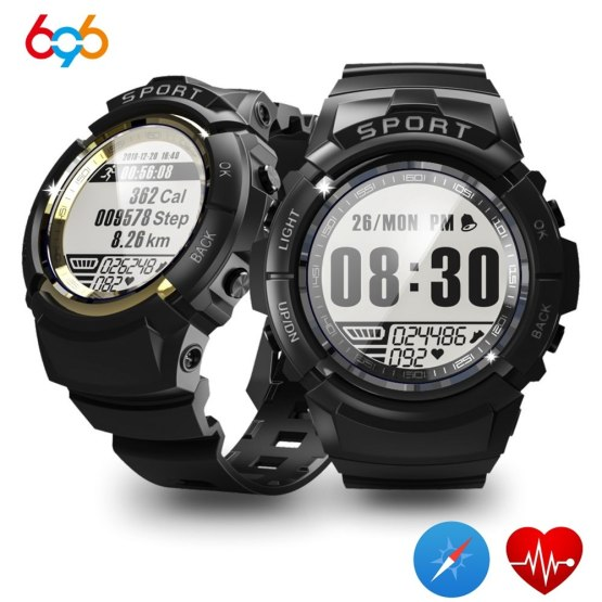 696 S816 Men Smart Watch Fitness Tracker Heart Rate Compass Stopwatch
