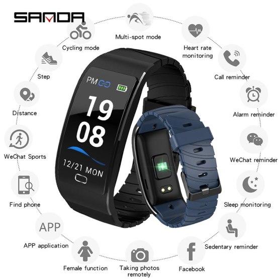 Smart Watch Waterproof Heart Rate Monitor Blood Pressure Fitness Smartwatch