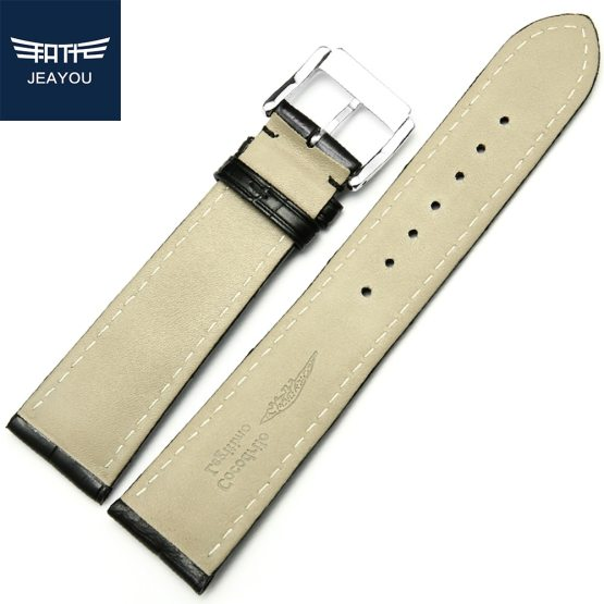 JEAYOU High Quality Men Alligator Leather Watch Strap Band Bulletins: