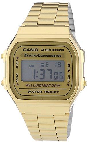 Casio Vintage Retro Gold Digital Dial Stainless Steel Unisex Watch