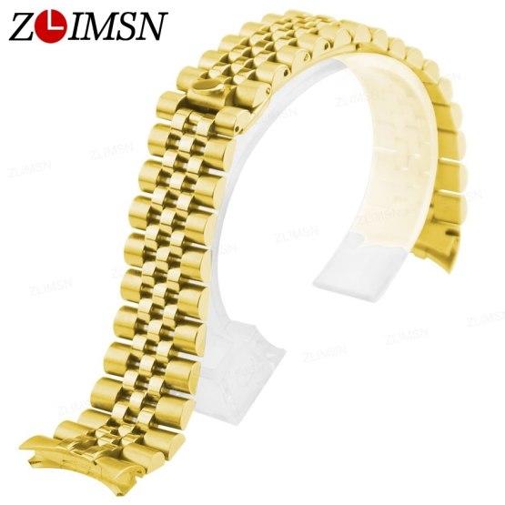 ZLIMSN Steel Watchband Watch Strap 13mm 20mm Bands Silver Rosegold