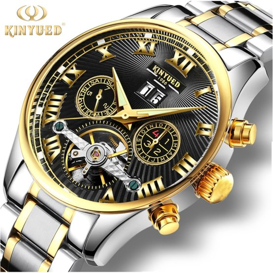2017 KINYUED Men Mechanical Watch Automatic Stainless Steel