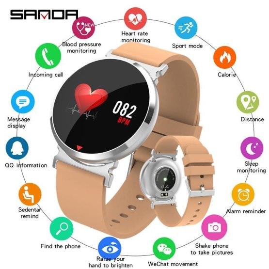 Fashion Bluetooth Sports Smart Watch Men Heart Rate Blood Pressure
