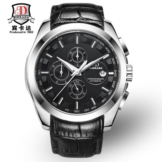 Luxury BINKADA Brand Men's Watch Automatic Mechanical Watches