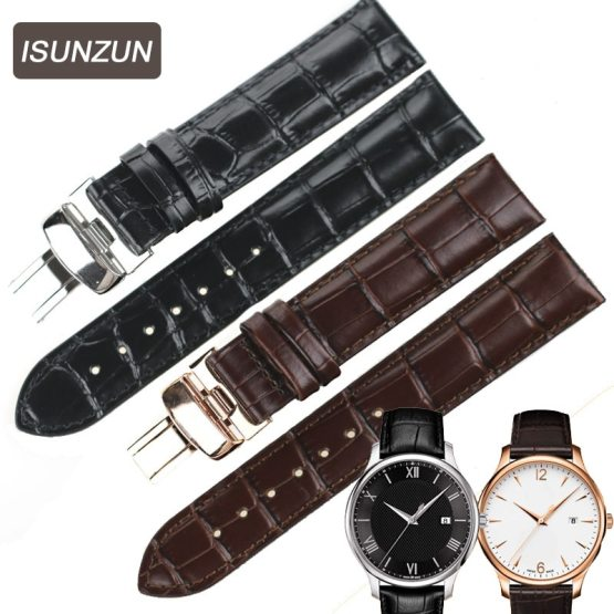 ISUNZUN Watch Bands For Tissot T063 Genuine Leather Watch Straps