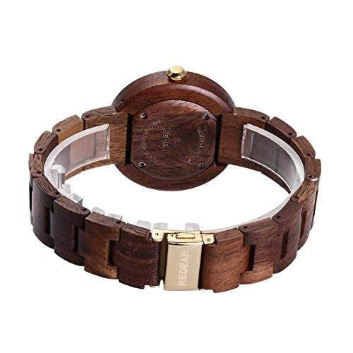 Luxury Natural Handmade Women's Ebony Sandalwood Wrist Watches Luxury Natural Handmade Women's Ebony Sandalwood Wrist Watches Lightweight Analog Quartz Movement