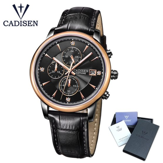 CADISEN Top Men Watches Luxury Brand Men's Quartz Hour Analog Sports Watch