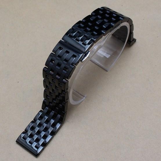 20mm Black Stainless steel watchband Bracelets fit Gear S2 smart-watch