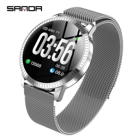 Luxury Brand Smart Watch TF1 Waterproof Heart Rate Monitor Blood