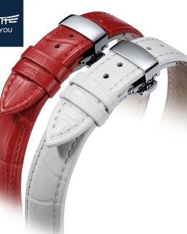 JEAYOU Leather Watch Band For Women Watch Strap Bracelet