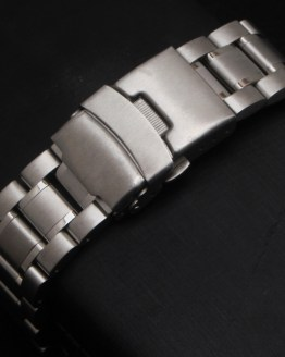 New Hot Sell Man Woman Silver Solid Stainless Steel Metal Curved End Watch Band