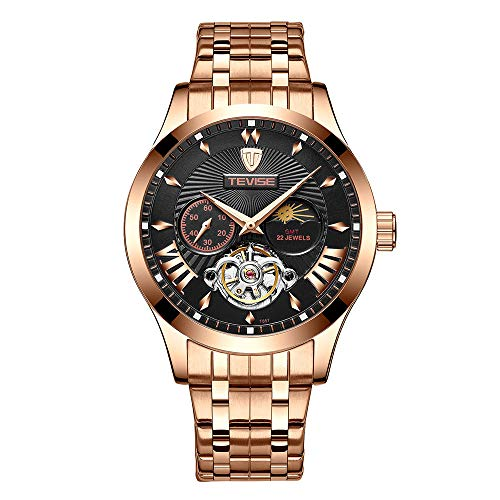 WATCHES Mens Watches Men Mechanical Automatic Skeleton Waterproof