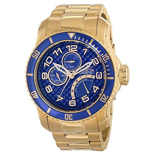 Invicta Men's Pro Diver Analog Display Japanese Quartz Gold Watch