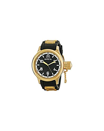 Invicta Men's Russian Diver 18k Black/Gold Ion-Plated Stainless Steel Watch (1436)