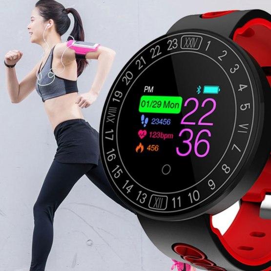 Fitness Smart Watch Sports Heart Rate Monitor Blood Pressure Waterproof