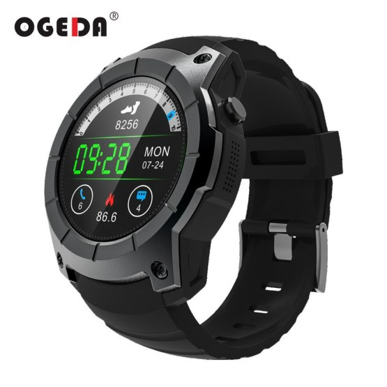 OGEDA Men GPS Smart Watch Sport Heart Rate Barometer Monitor