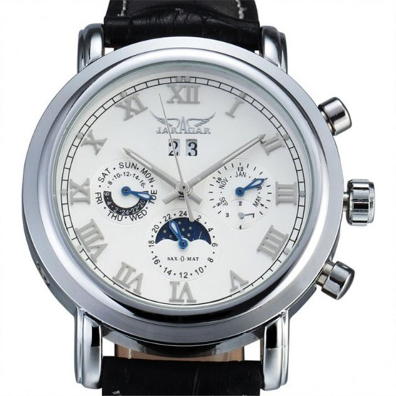 Classic Dual Movement Design Automatic Quartz Watches Clock Mens Watches