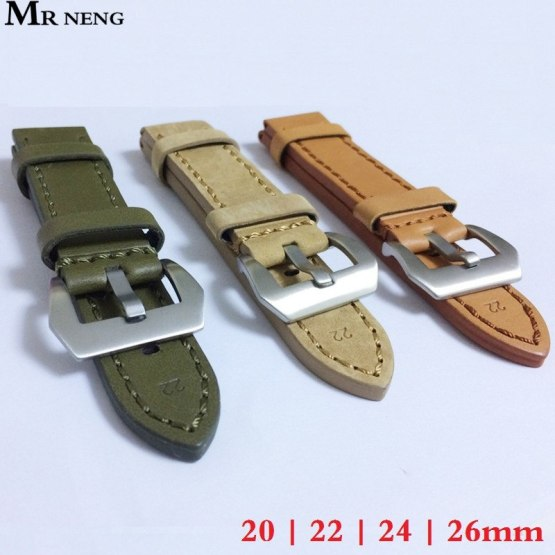 20mm 22mm 24mm 26mm Leather Watch Strap Watch Band Man Watch