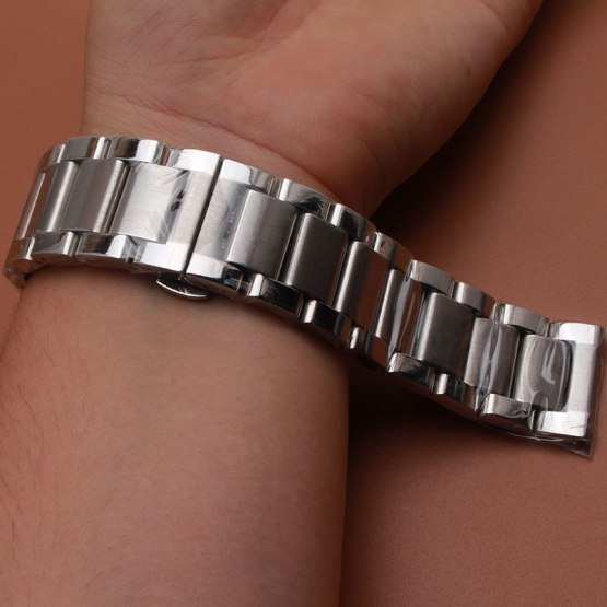 Straight Ends wrist Watches band stainless steel accessories men women