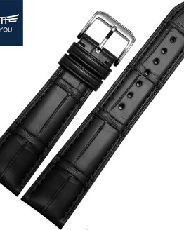 JEAYOU High Quality Men Alligator Leather Watch Strap Band