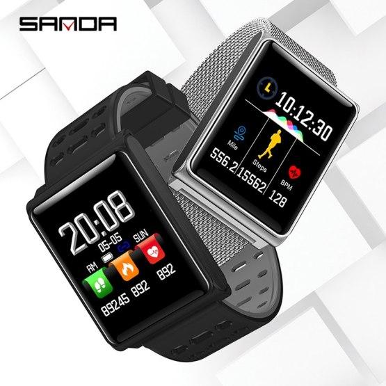 Silicone & Mesh Smart Watch N98 IP67 Waterproof Heart Rate Monitor