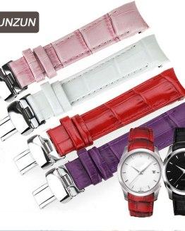 ISUNZUN Women Watch Band For Tissot Watch Strap Genuine leather