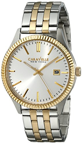 Caravelle New York Men's Analog Display Analog Quartz Two Tone Watch