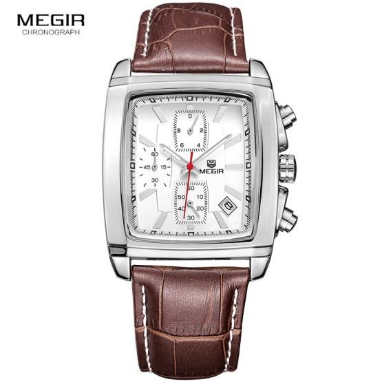 megir fashion casual military chronograph quartz watch
