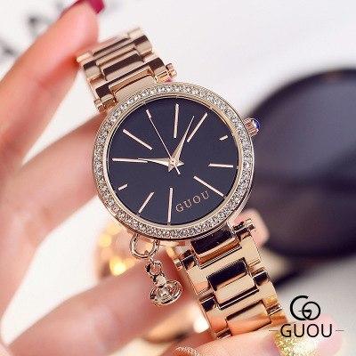 2017 New Famous Brand Watch Women Stainless Steel Quartz Luxury Analog