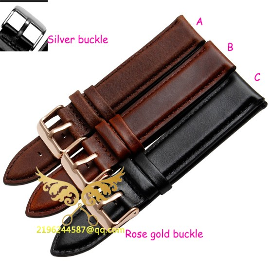 2015 New Durable Genuine Leather Watch Strap For men &women