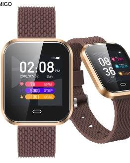 Smartwatch For Android IOS Phone BOAMIGO Smart Bracelet Heart Rate