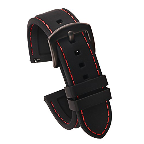 22mm Quick Release Silicone Watch Strap for Watches
