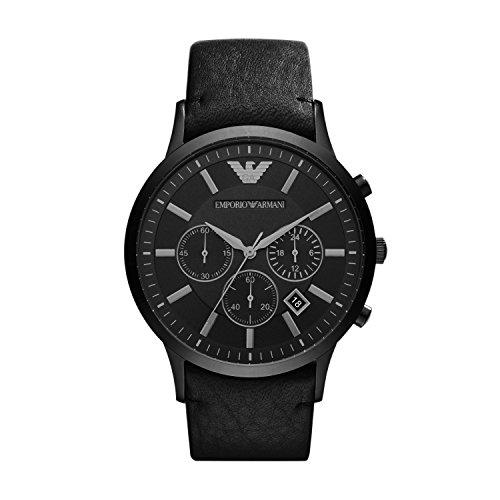 Emporio Armani Men's AR2461 Dress Black Leather Watch