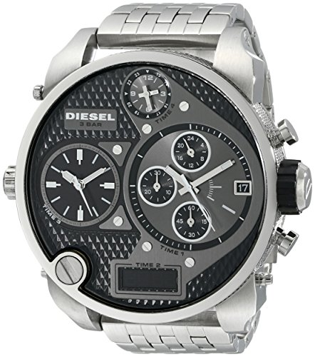 Diesel Men's DZ7221 Mr. Daddy Silver Watch