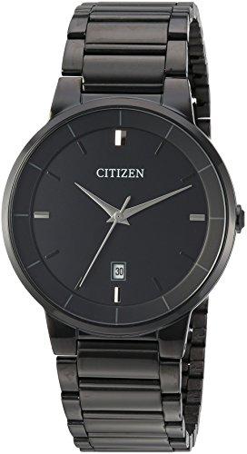 Citizen Men's ' Quartz Stainless Steel Casual Watch, Color:Black (Model: BI5017-50E)
