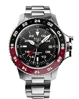 Ball Gents-Wristwatch Engineer Hydrocarbon AeroGMT II Date GMT Analog Automatic DG2018C-S3C-BK