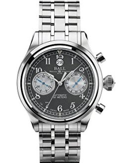 Ball Trainmaster Cannonball S Grey Dial Automatic Men's Chronograph Watch CM1052D-S2J-GY