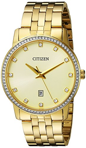 Citizen Men's Quartz Stainless Steel Crystal Accented Watch, BI5032-56P