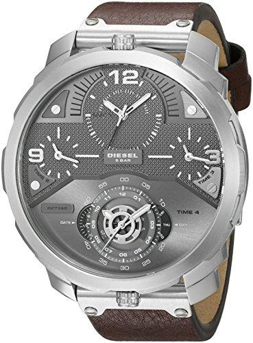 Diesel Men's DZ7360 Machinus Stainless Steel Brown Leather Watch