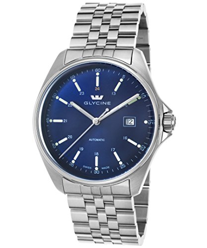 Glycine 3890-18S-Mb Men's Combat 6 Automatic Stainless Steel Blue Dial Ss Watch