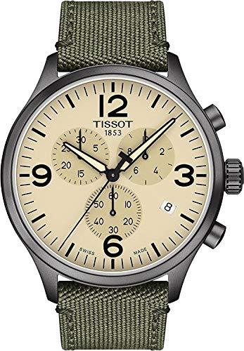 Tissot Men's Chrono XL Fabric Green Stainless Steel Watch T1166173726700