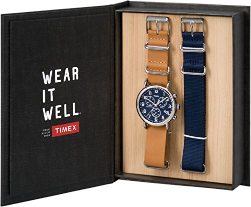 Timex Unisex-Adult Chronograph Quartz Watch with Leather Strap TWG012800