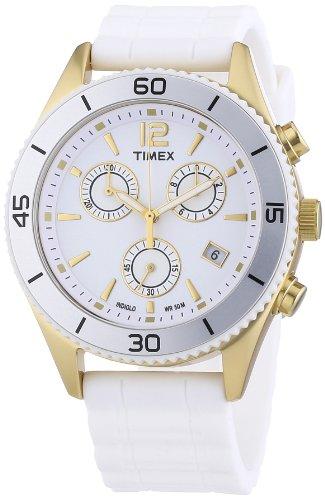 Timex Originals Women's Quartz Watch with White Dial Chronograph Display