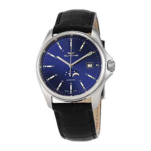 Glycine Combat 6 Classic Moonphase Automatic Blue Dial Men's Watch GL0113