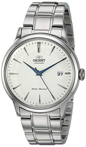 """""""Orient Men's """" Bambino Version 5"""" Japanese Automatic / Hand-Winding Stainless Steel Bracelet Dial Color: White Model #: RA-AC0005S10A"""""""