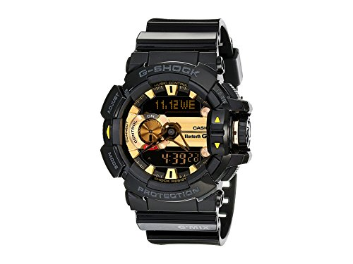 Casio G-Shock Men's GBA400 G'Mix Rotary Switch BLE Watch, Black/Gold, One Size