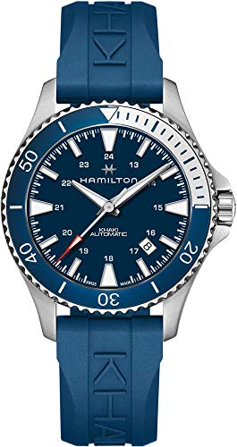 Hamilton H82345341 Khaki Navy Scuba Auto Men's Watch Blue Rubber Band