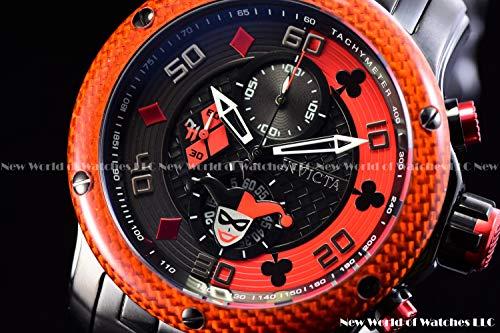 Invicta DC Comics Harley Quinn 48mm Pro Diver Scuba Limited Edition Quartz Chronograph Watch