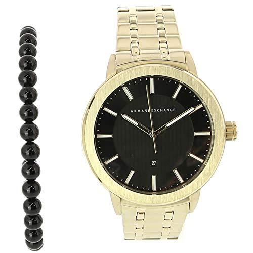 Armani Exchange Men's Gold Stainless-Steel Japanese Quartz Fashion Watch