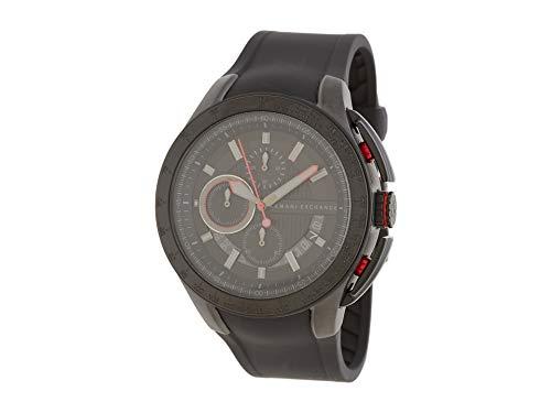 Armani Exchange Black Silicone Chronograph Mens Watch